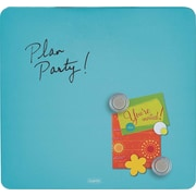 "Quartet , 12""W x 12""H, Tin Square Magnetic Dry Erase Board, Frameless, Assorted Colors"