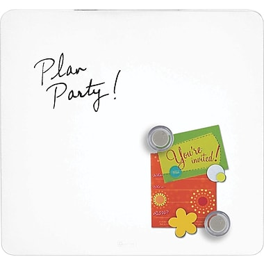 Quartet® Tin Square Magnetic Dry-Erase Board, Frameless, White, 12in. x 12in.