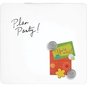 "Quartet® Tin Square Magentic Dry-Erase Boards, 12"" x 12"", Frameless, White Surface (TSQ1212-W)"