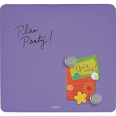 Quartet® Tin Square Magnetic Dry-Erase Board, Frameless, Purple, 12