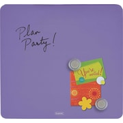 Quartet® Tin Square Magnetic Dry-Erase Board, Frameless, Purple, 12 x 12
