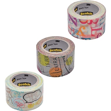 Scotch® Expressions Washi Pattern Tape, 1 3/16in. x 393in.