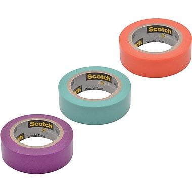 Scotch® Expressions Washi Solid Color Tape, 3/5
