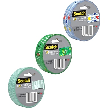 Scotch® Expressions Masking Pattern Tape, 1in. x 20 yds