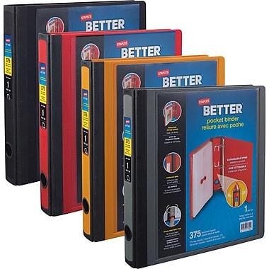 Staples® – Reliure Better Binder avec pochette, 1 po