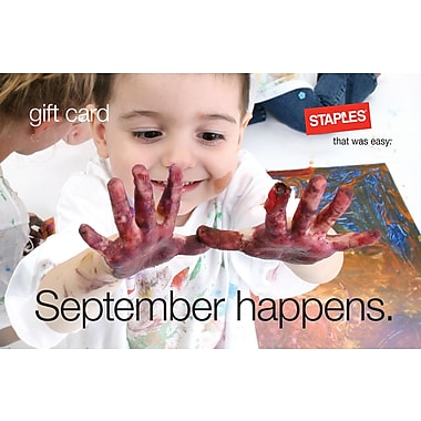 Staples Teacher Paint Gift Card $25