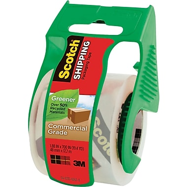 Scotch® Greener Commercial-Grade Shipping Tape, 1.88in. x 19.4 Yards