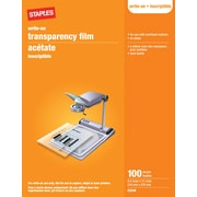 "Staples® Write-On Transparency Film, 100 Sheets, 8.5"" x 11"""