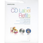 Memorex White CD Labels, Inkjet - CD/DVD Label 50/Pack