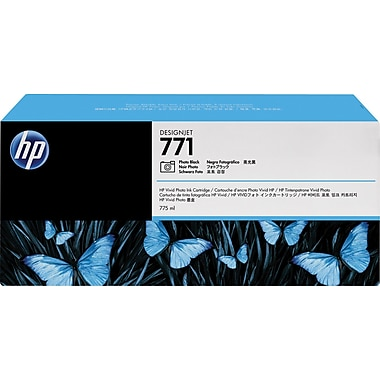 HP 771 Photo Black Ink Cartridges (B6Y45A), 3/Pack