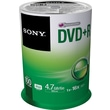Sony 100/Pack 4.7GB DVD+R, Spindle