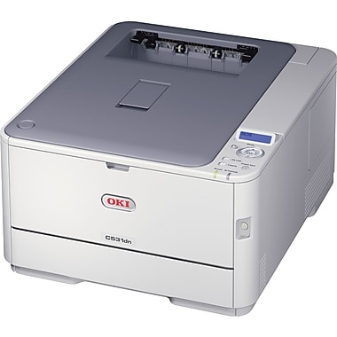 OKI® C531DN Color Laser Single-Function Printer, 62443701