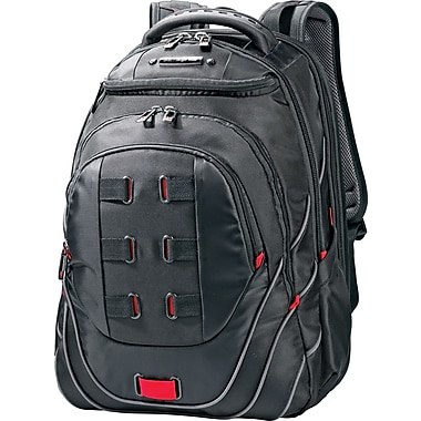Samsonite Tectonic PFT Black/Red Fabric Laptop Backpack (51531 ...