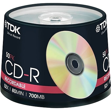 Imation TDK 700MB 48X CD-R, Spindle, 50/Pack