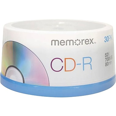 Imation Memorex™ 700MB 52X CD-R, Spindle, 30/Pack
