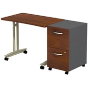 Bush Westfield Adjustable Height Mobile Table w/  Mobile Ped Hansen Cherry/Graphite Gray, FA