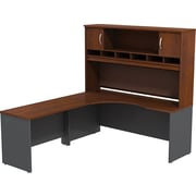 Bush Westfield LH Corner L-Desk 2-Door Hutch, Hansen Cherry, Installed