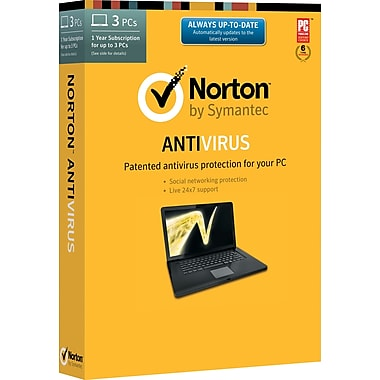Norton AntiVirus for Windows (1-3 users) (Boxed)