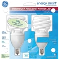 GE Energy Smart® Spiral® CFL 13 Watt T2, 2/Pk