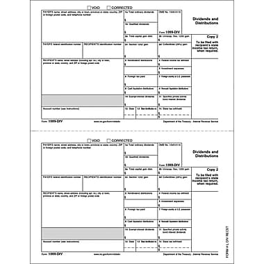 TOPS 2014 1099DIV Tax Form, 1 Part, White, 8 1/2in. x 11in., 100 Forms/PK