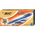 BIC Atlantis® Retractable Ballpoint Pens, Medium Point, Blue, Dozen