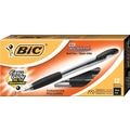 BIC Atlantis® Ballpoint Stick Pen, Medium Point, Black, Dozen