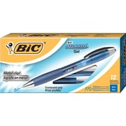 BIC® Atlantis® Retractable Gel-Ink Pens, Blue, Dozen