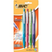 BIC® Atlantis® Retractable Ballpoint Pen, 1 mm Medium, Assorted, 4/Pack