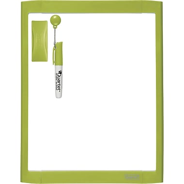 Quartet® Dry-Erase Board, Green, 8.5in. x 11in.