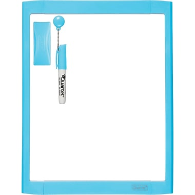 Quartet® Dry-Erase Board, Blue, 8.5in. x 11in.