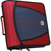 Case•it D-146 Red 3 Zipper Binder with Tab File