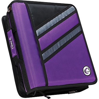 Case•it Z-176  1 1/2in. Purple 2-in-1 Zipper Binder