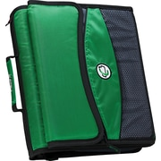 Case•it D-901 2 Green Zipper Binder with Removable Expanding File