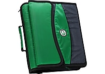 Case•it D-901 2' Green Zipper Binder with Removable Expanding File