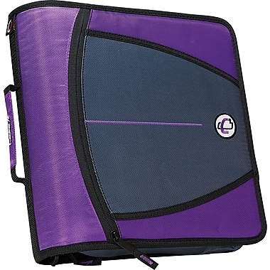 Case•it D-146 Purple 3in. Zipper Binder with Tab File