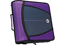Case•it D-146 Purple 3' Zipper Binder with Tab File