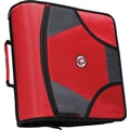 Case•it D-186 4in. Red Zipper Binder with Built-in Tab File