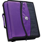"Case•it D-901 2"" Purple Zipper Binder with Removable Expanding File"