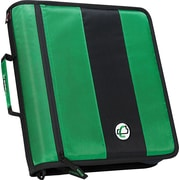 "Case-it ""The Standard"" 2-Inch Round 3-Ring Zipper Binder, Green (D-251 GRN)"