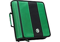Case-it 'The Standard' 2-Inch Round Ring Zipper Binder, Green (D-251 GRN)