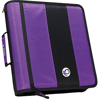 Case•it D-251 Purple 2in. Zipper Binder