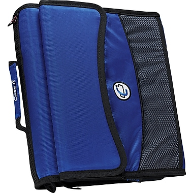 Case•it D-901 2in. Blue Zipper Binder with Removable Expanding File