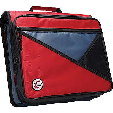 Case•it LT-007 2in. Red Zipper Binder with Laptop/Tablet Pocket