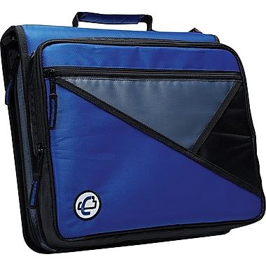Case•it LT-007 2in. Blue Zipper Binder with Laptop/Tablet Pocket