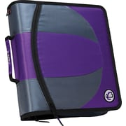 "Case-it ""The Dual"" 1.5-Inch 3-Ring Zipper Binder, Purple (Dual-101 PUR)"
