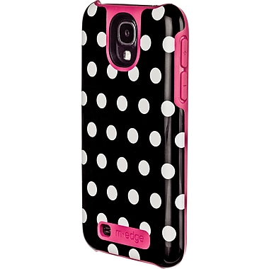 M-Edge Echo Case for Samsung Galaxy S4, Black Polka Dots