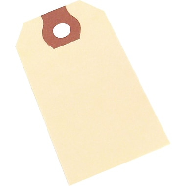 Plain Manilla Shipping Tags, #3 Size, 3-3/4