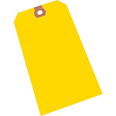 Crownhill Plain Yellow Tags, #8 Size, 6-1/4