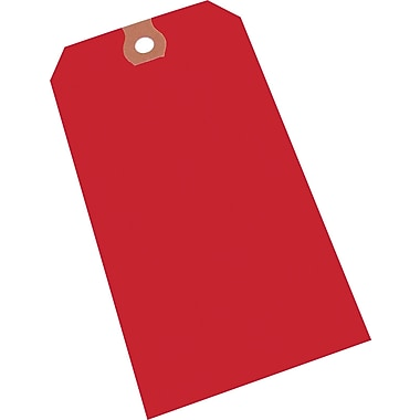 Plain Red Tags, #5 Size, 4-3/4