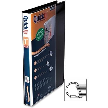 Davis QuickFit® 9500 Heavy-Duty D-Ring Deluxe View Binders, Black